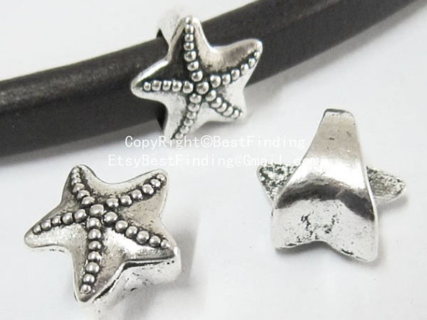 Pulsera de regaliz mar estrella slider 10x6mm-LF43