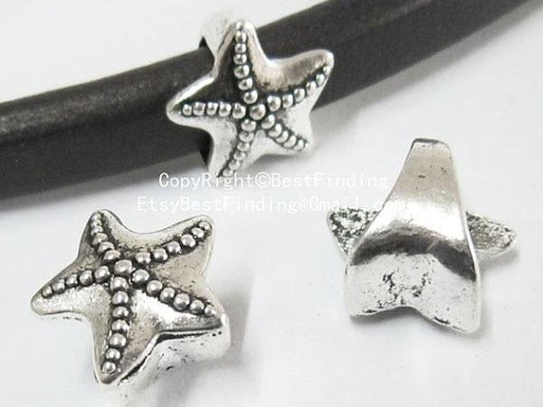 Estrela Do Mar deslizante 10x6mm Alcaçuz alcaçuz pulseira descobertas-LF43