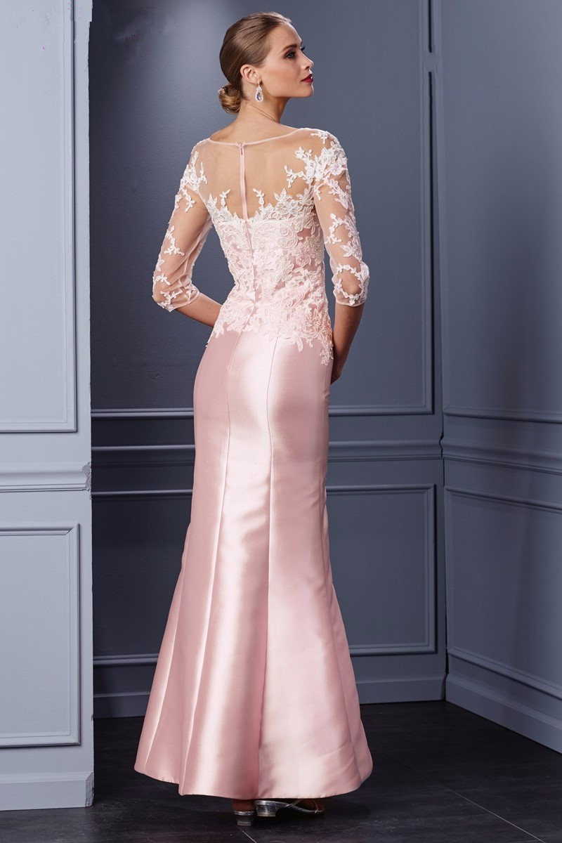 Elegant-Pink-Mother-of-the-Bride-Dress-Half-Sleeve-Wedding-Guest-Outfit-vestidos-de-madre-de (1)