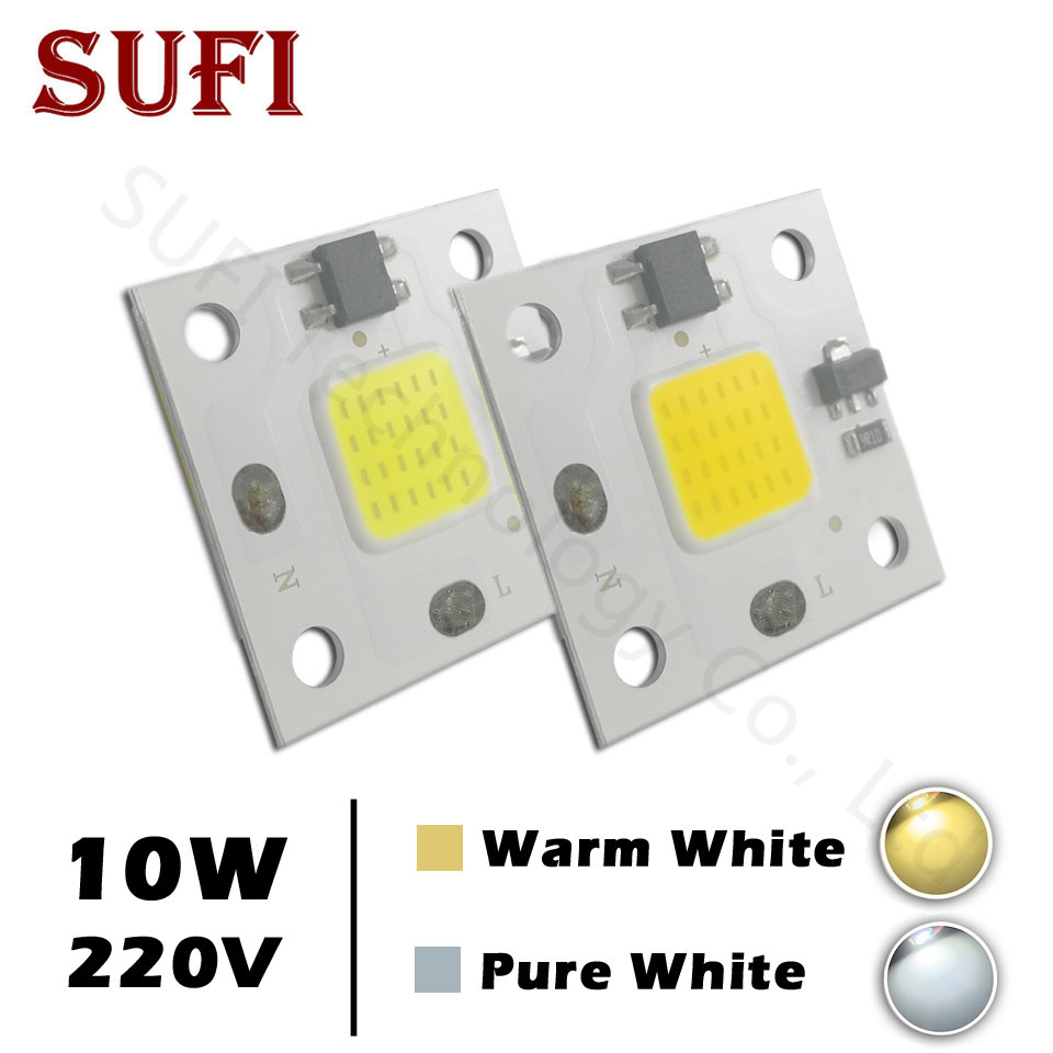 LED COB Lamp Chip 10W 20W 30W 50W 100W AC220V White Warm Pure White For 10 20 30 50 100 W Watt LED Bulb Floodlight Spotlight