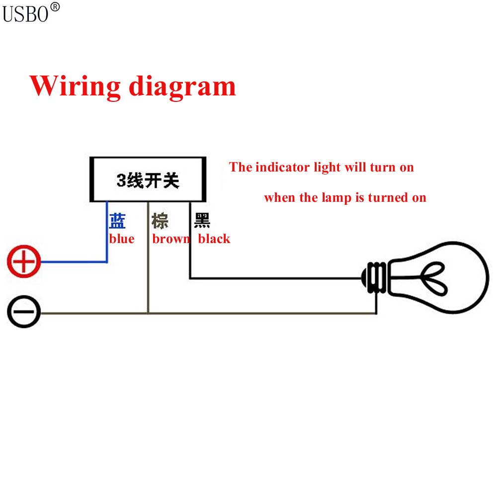 black cable wire length 50cm motorcycle handle switch with indicator rh aliexpress com how to wire a switch with indicator light wiring a switch with indicator light videos