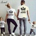 2016 Algodão T-shirt Para O Pai Me Mon Filho Filha Roupas Pai Mãe Do Bebê Outfits Olhar Família REI Família Roupas Combinando