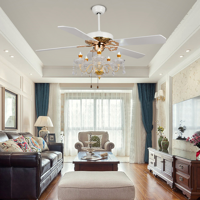 Luxury Crystal Fan Light Ceiling Fans Candle Ceiling Fan