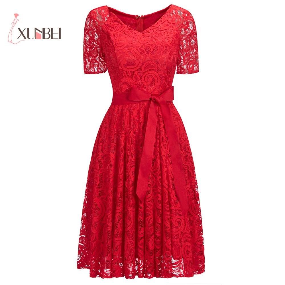 Discount Designer Evening Dresses: Elegant Plus Size V Neck Burgundy Lace Cheap Evening