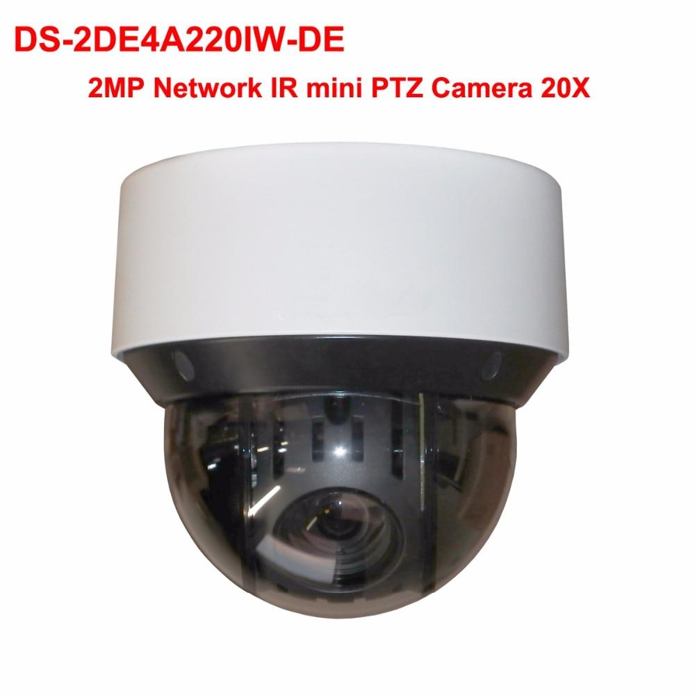2MP Network IR mini PTZ Camera 20x optical zoom WDR POE Hik cloud P2P IR 50m cctv video surveillance ip camera DS-2DE4A220IW-DE hik ds 7604ni e1 4p p2p 4ch poe network video recorder with waterproof 2 megapixel bullet ip camera ds 2cd1021 i ip camera