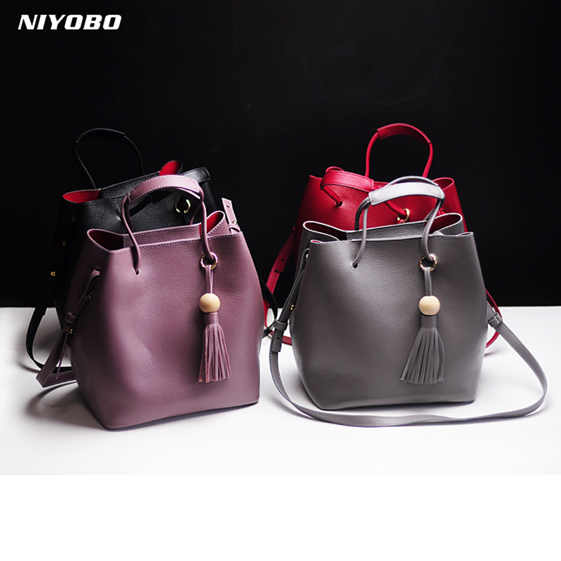 Women Handbag 100% Genuine Leather HandBag Casual Cross Body Real Leather woman Messenger Bag Lady Shoulder Bags Totes handtas цена 2017