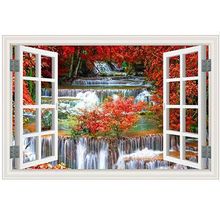 Scenery Sea Beach Window Outside 5D DIY Full Square Drill Diamond Painting 3d Mosaic Diamant Embroidery Wedding Room Decor Z1291