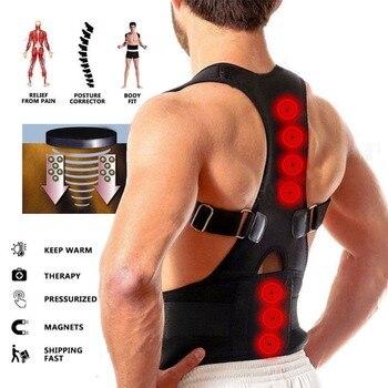 Männlich Weiblich Einstellbar Magnetische Haltung Schulter Korrektur Therapie Korsett Zurück Brace Gürtel Lenden Unterstützung Gerade Corrector