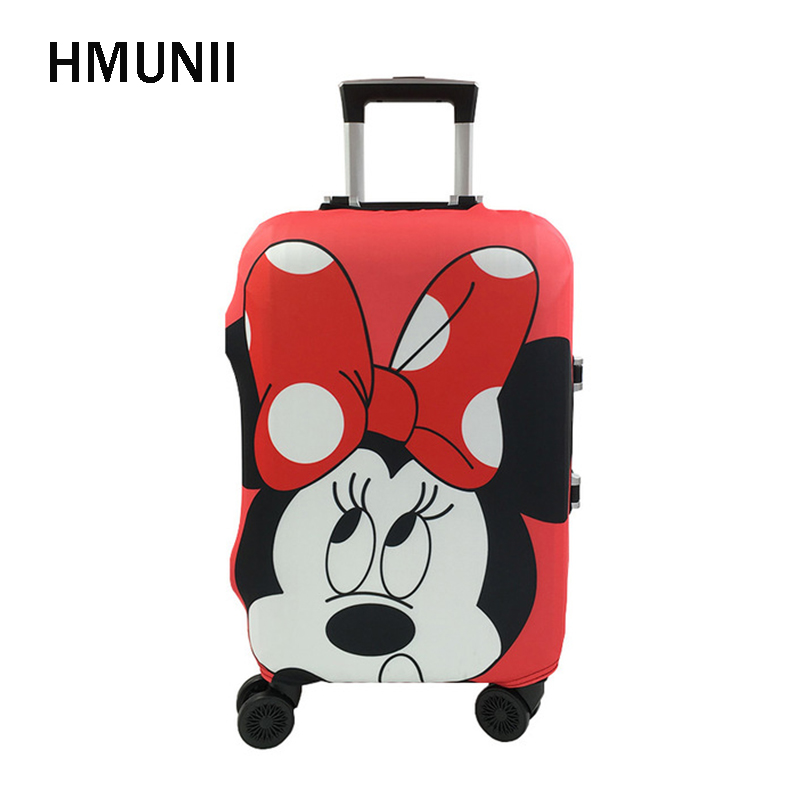 HMUNII Hot Minnie And Mickey Travel Suitcase Protective Cover Elastic Dust Case Cover Fo ...