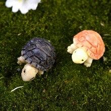 2 шт. модель черепахи для кукольного дома Сказочный Сад миниатюры Террариум домашний рабочий стол суккуленты микро ландшафтное украшение