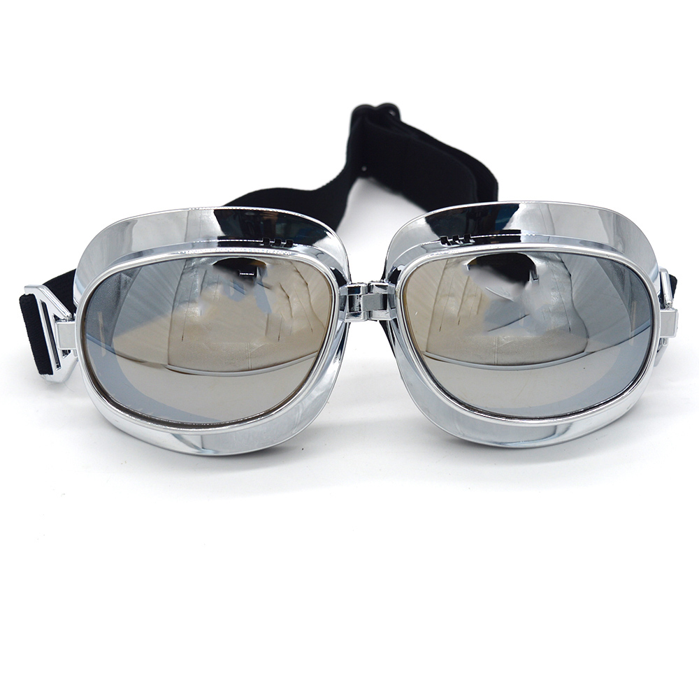 Hot sell Retro for Harley style moto goggles dust-proof steampunk goggles sport sunglasses outdoors used for motocross