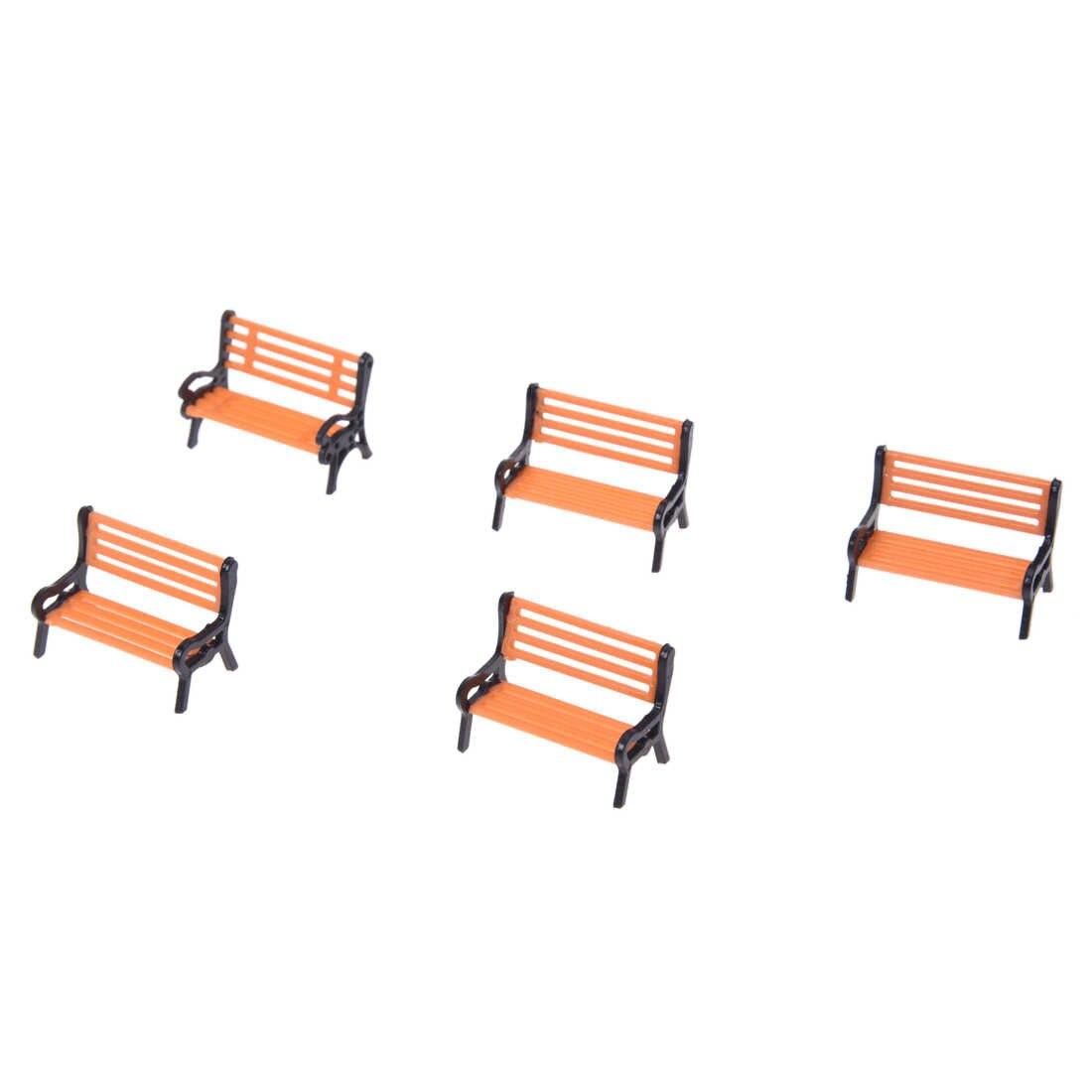 5 шт. пластиковая модель парк скамейка Модель Пейзаж 1:50 w/черная рука
