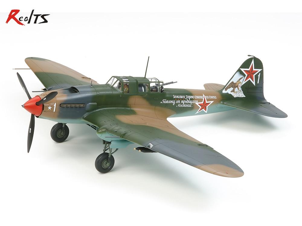 RealTS TAMIYA MODEL 1/48 SCALE military models #61113 Ilyushin IL-2 Shturmovik plastic model kit hasegawa model 1 24 scale civil models 20263 focus rs wrc 04 plastic model kit