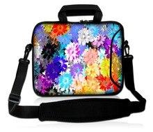 customizable  laptop bag colorful flower  laptop shoulder bag for 13 13.3 15 15.6 17 17.3 inch notebook sleeve bag  tablet case