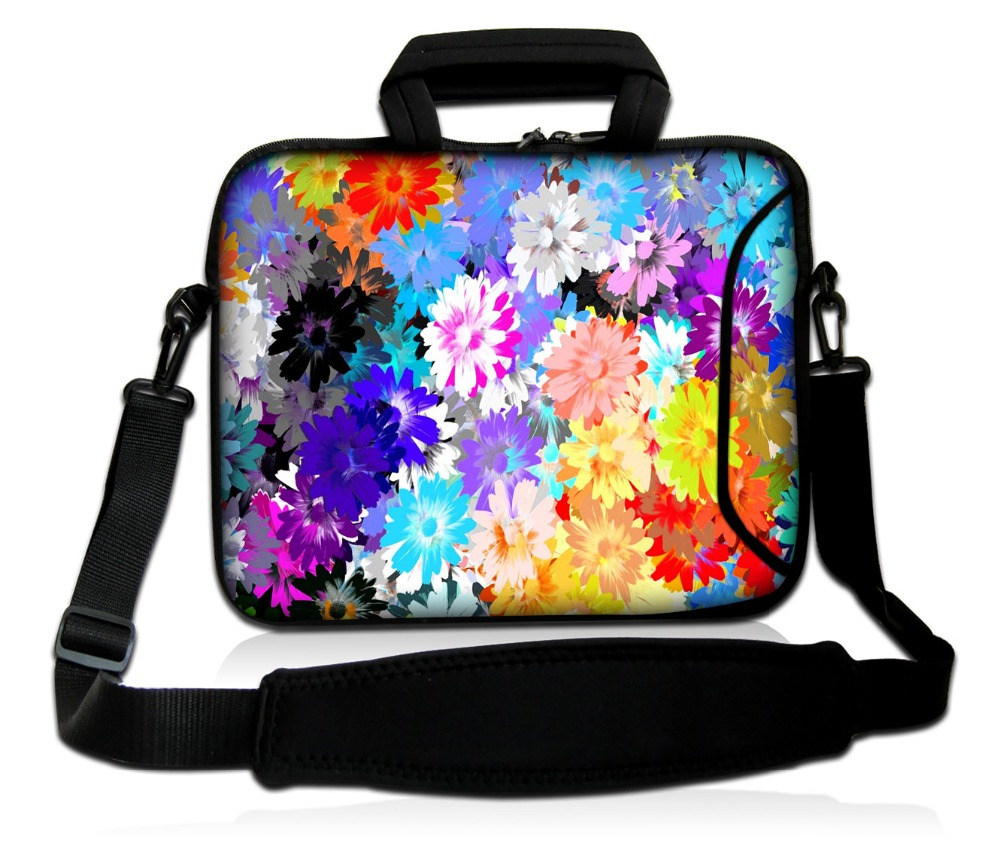 customizable laptop bag colorful flower laptop shoulder bag for 13 13.3 15 15.6 17 17.3 inch notebook sleeve bag tablet case
