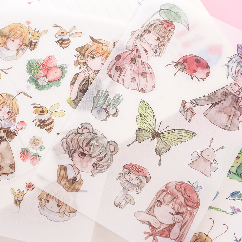 6 Sheets/pack Fairy Girls Animals Decorative Washi Stickers Scrapbooking Stick Label Diary Stationery Album Stickers6 Sheets/pack Fairy Girls Animals Decorative Washi Stickers Scrapbooking Stick Label Diary Stationery Album Stickers
