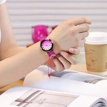 Прямая поставка Женские часы Плетеный браслет ручной работы часы женский веревочный часы кварцевые часы Relogio Feminino zegarek damski