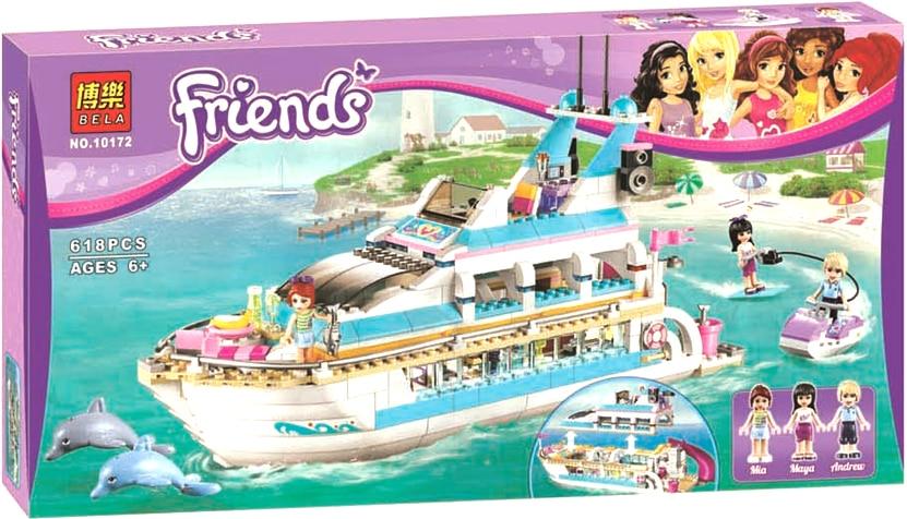Hot 618 psc Bela 10172 amigos ninas grande de delfines Cruiser cruiseships modelo  Building Blocks juguetes набор для кухни pasta grande 1126804