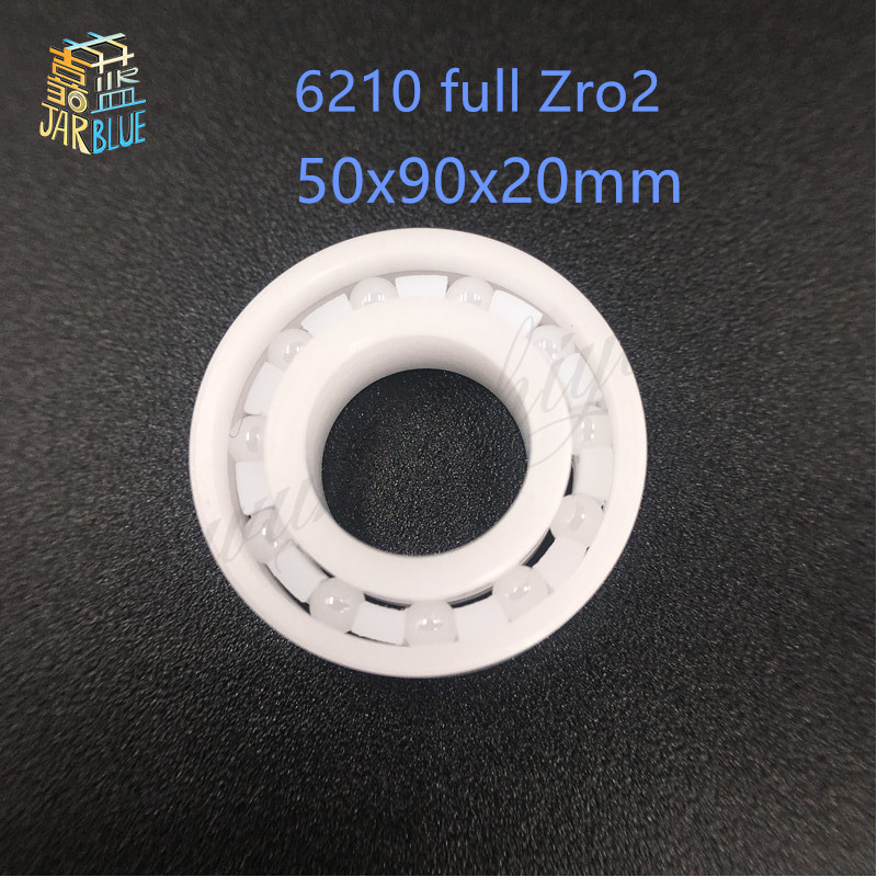 Free shipping 6210 full ZrO2 ceramic deep groove ball bearing 50x90x20mm good quality 627 full zro2 ceramic deep groove ball bearing 7x22x7mm good quality
