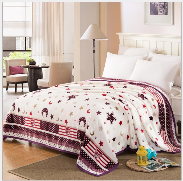Bedding Throws Flannel Blanket Winter