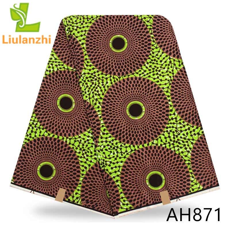 LIULANZHI Printed wax real fabric 100%cotton 6yards Wholesale nigerian wax fabric for women dreess ankara fabric AH867-AH878