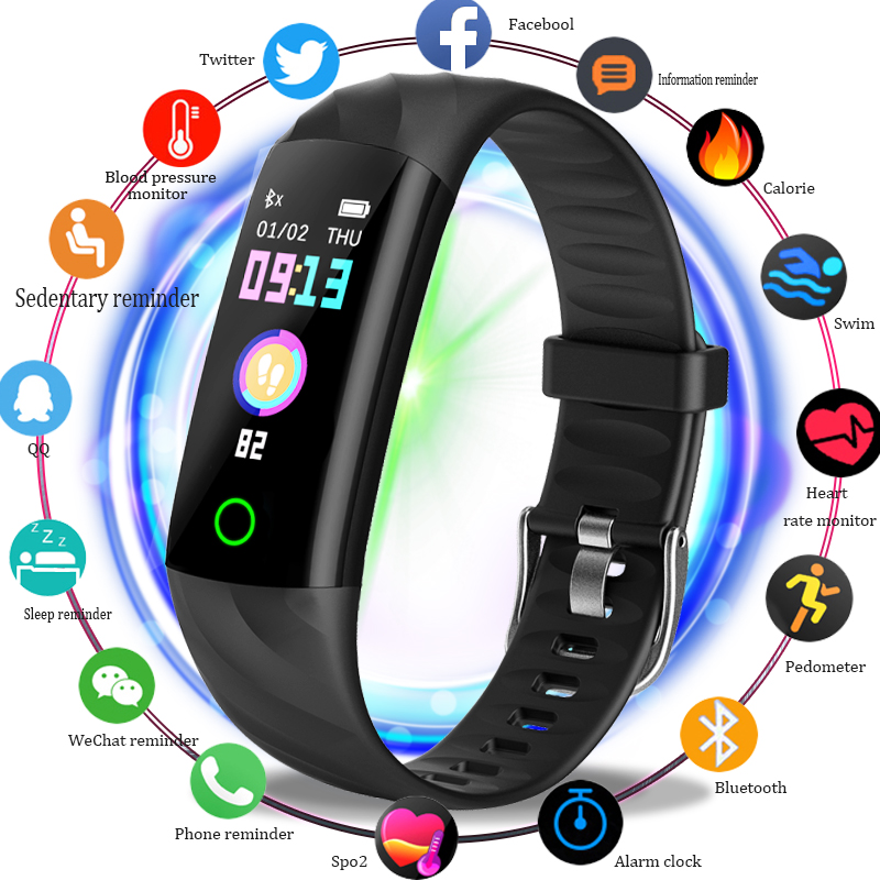 BANGWEI Brand Smart Watch Men Women Blood Pressure Heart Rate Monitor Fitness Tracker Pedometer Sport Watch for ios android+BOXBANGWEI Brand Smart Watch Men Women Blood Pressure Heart Rate Monitor Fitness Tracker Pedometer Sport Watch for ios android+BOX