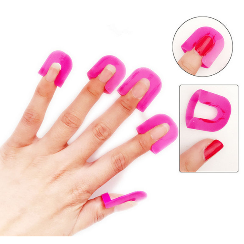 Finger Nail Art: New 26Pcs Pro Manicure Finger Nail Art Design Tips Cover