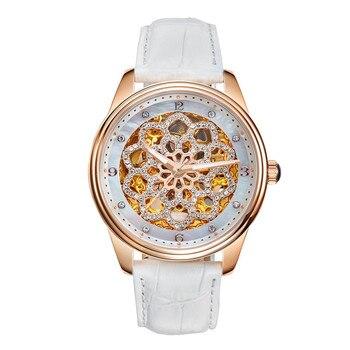 Luxury Romantic Floral Skeleton Watch 1