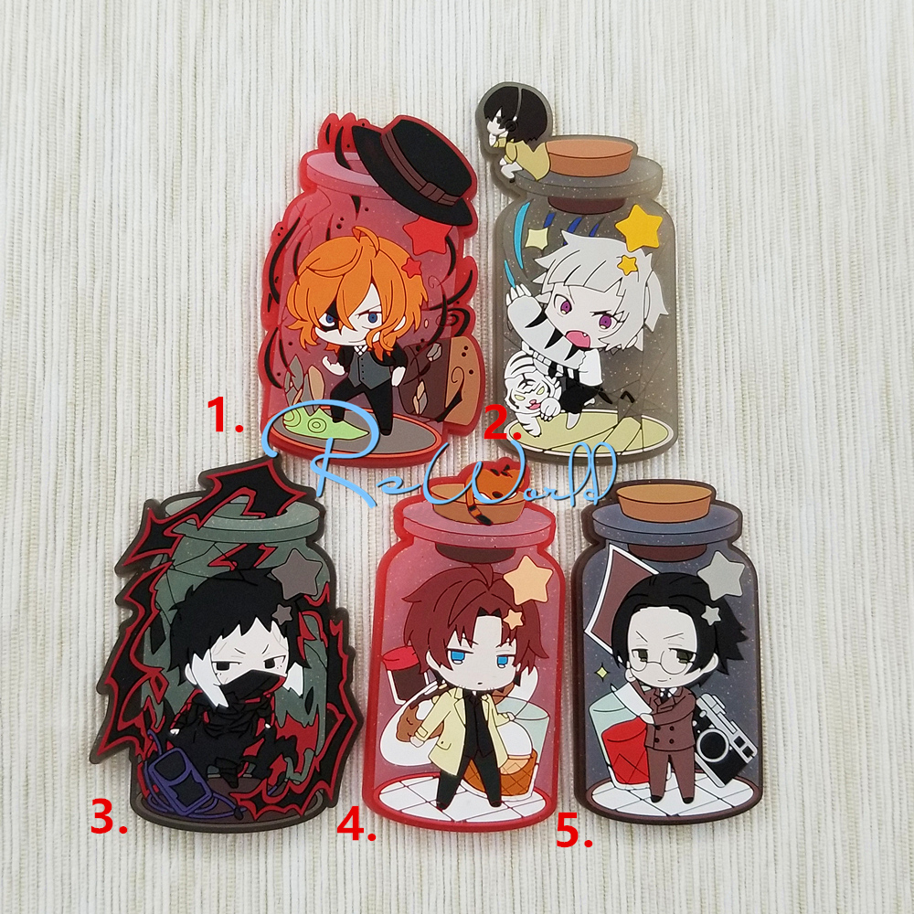 Bungo Stray Dogs Anime Nakajima Atsushi Nakahara Chuya Sakaguchi Ango Akutagawa Ryunosuke Rubber Fridge Magnet Accessory summer sexy swimsuit vintage high waist bikini retro push up swimwear women plus size bathing suit printed floral bikinis set page 9