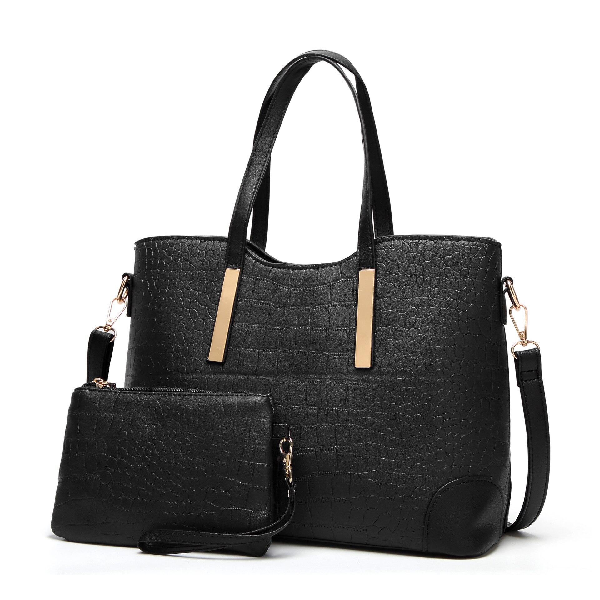 31c250532f2d Luxus Crocodile Skin Női táskák Nagy kapacitású táskák + kis ...