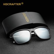 HDCRAFTER Brand Aluminum Magnesium Sunglasses Polarized Lens Retro Square Eyewear Sun Glasses For Men and Women