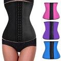 Fashion Steel Bone Waist Trainer Corset Latex Corset Sexy Women Latex Waist Cincher Slimming Shapewear Bodysuit