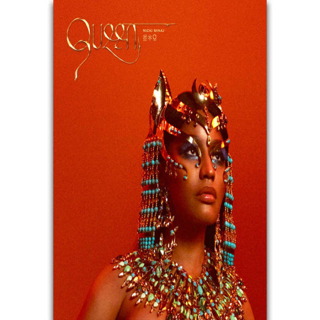 US $5 22 5% OFF|S2835 Album Cover Nicki Minaj Queen Rap Music Rapper Star  Wall Art Painting Print On Silk Canvas Poster Home Decoration-in Painting &