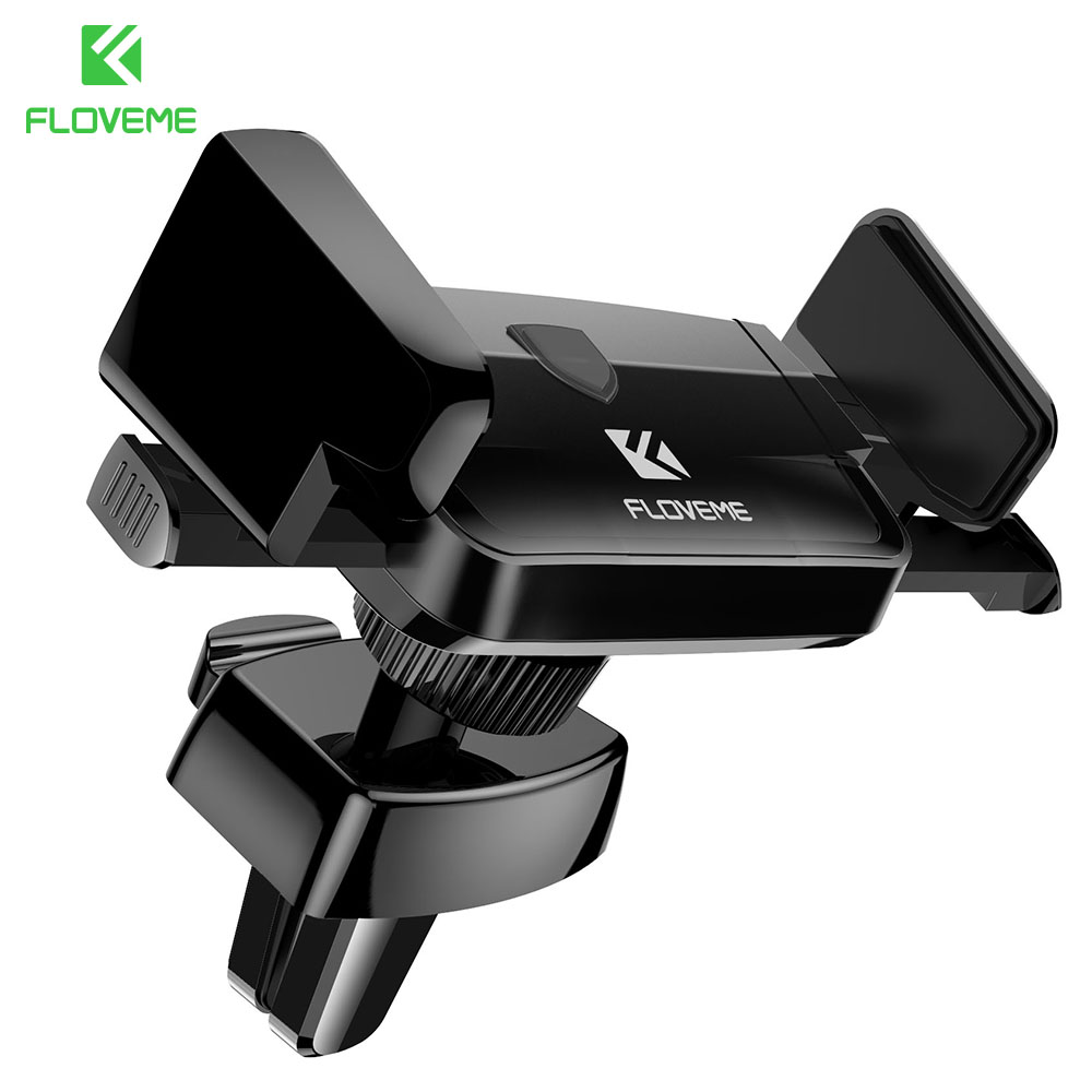 FLOVEME 360 Degree Rotation Universal 3″-6″ Car Phone Holder For iPhone X 7 Air Vent GPS Monut Holder For Samsung Xiaomi Support