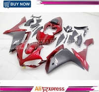 For Yamaha YZF R1 2007 2008 YZFR1 07 08 Aftermarket Candy Red & Matte Black ABS Motor Fairing Kit Bodywork