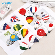 World Countries Flag hot air balloon fridge magnet souvenir travel three-dimensional Home Decor DIY refrigerator stickers