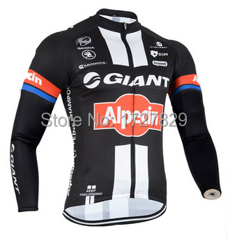 bfd0167f0 ROPA CICLISMO 2015 GIANT ALPECIN PRO TEAM BLACK WINTER FLEECE THERMAL ONLY  LONG SLEEVE TOP CYCLING JERSEY BIKE CLOTHES