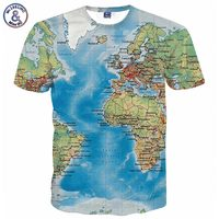 New Fashion Men S T Shirt 3d Print Maps Slim Fit Short Sleeve Brand Clothing T