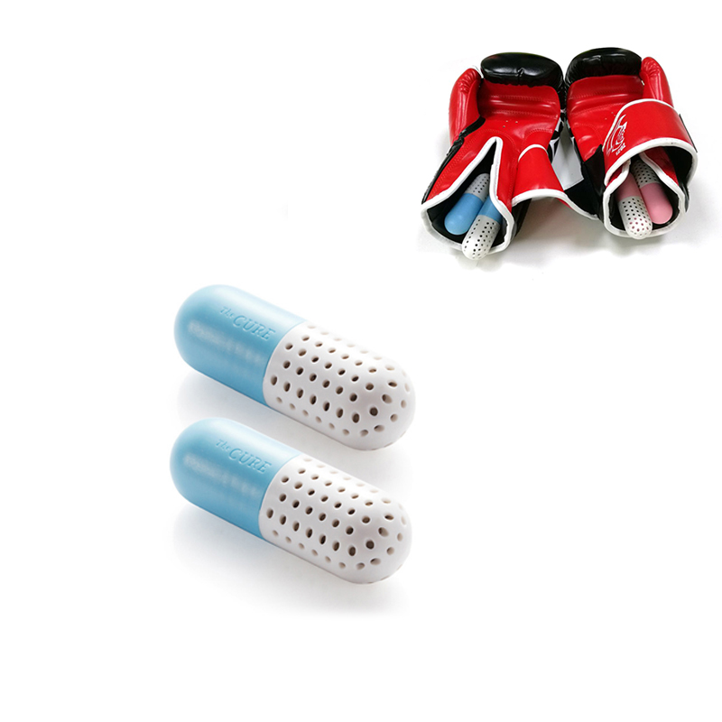 1 Pair Boxing Gloves Deodorizers Cute Capsule Shape Shoes Odor Eliminator Sports Gloves Bags Fresh Perspiration Absorber