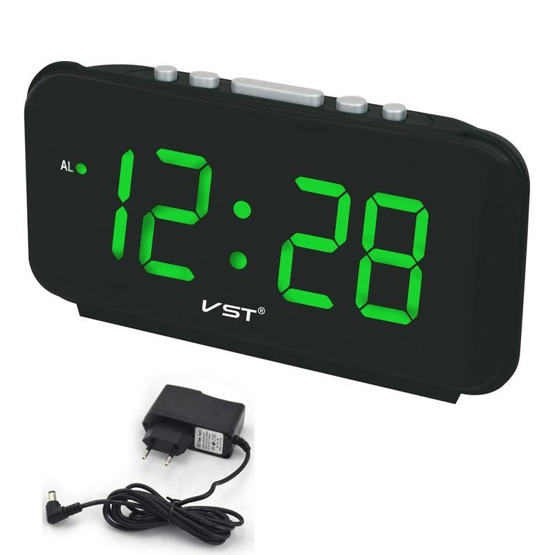 Описание настольные часы vst имеют светодиодный экран с яркой красивой подсветкой цифр, а также, встроенный будильник с множеством поднастроек, который не позволит вам проспать работу или важную встречу.