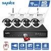 SANNCE 4CH IR HD CCTV Security Wireless NVR IP Camera System 720P CCTV Set Outdoor Wifi