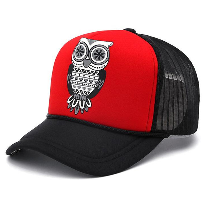 b8c55a14dae New Fashion Baseball Cap Adult Unisex Classic Trucker Hat Cap Owl Mesh Cap  Snapback Hat Vintage Women Men Hip Hop Hat