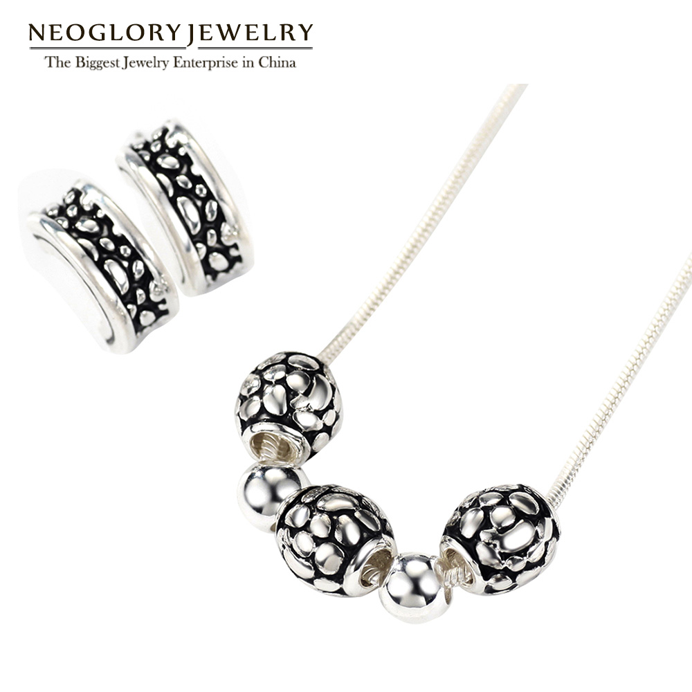 Neoglory Earrings Jewelry-Sets Ball-Necklaces Christmas-Gifts Silver-Plated Fashion Women