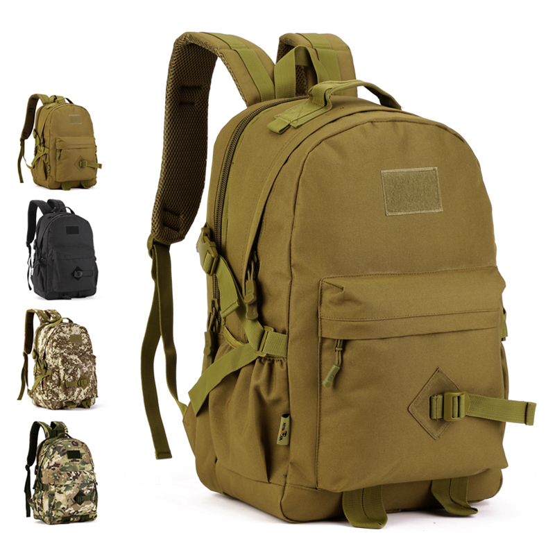 40L tactical backpack outdoor computer bag mountaineering bag  backpack cycling knapsack A3152 3d tactical outdoor double shoulder backpack knapsack bag black
