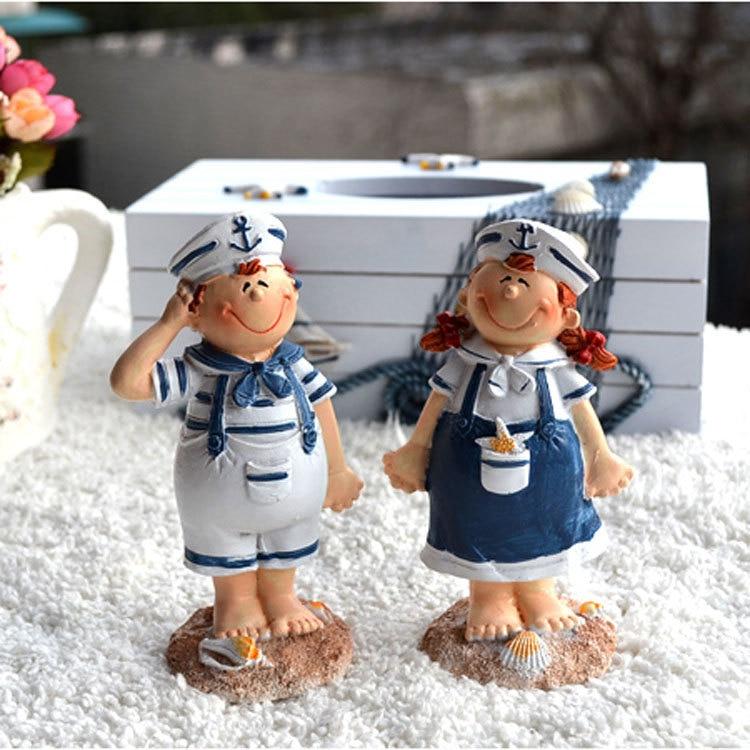 Buy Doll Furnishing Articles Resin Crafts Home Decoration: Resin Dolls 2pcs Set, Mediterranean Style Furnishing