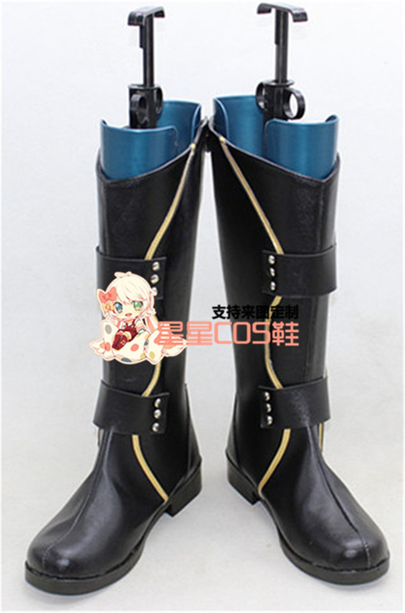 The Avengers Thor 2 Loki Black Cosplay Shoes Boots X002