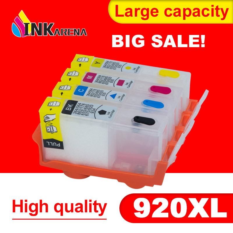 INKARENA Compatible Cartridge Replacement for HP920 920 XL Refillable Ink Inkjet 6000 6500A 7000 7500 7500A Printer reset Chip