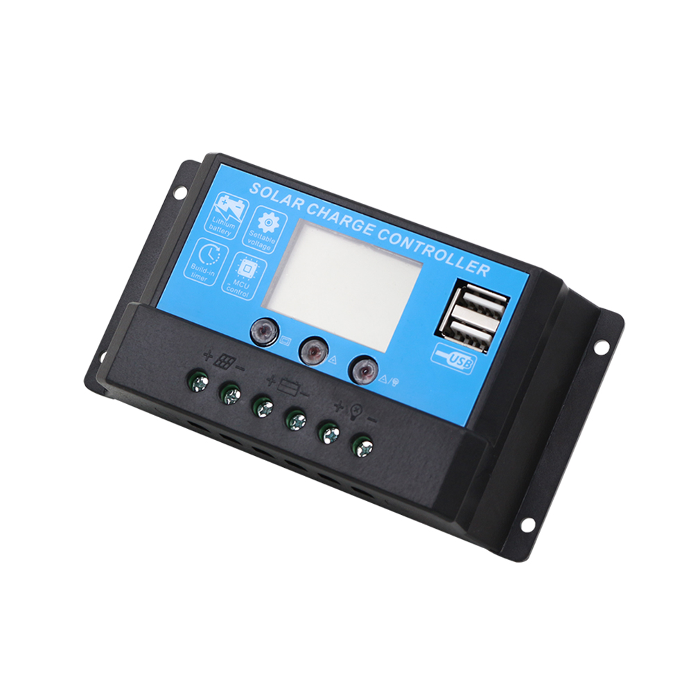 10a 12v 24v Lcd Display Solar Panel Charge Agm Gel Lithium Battery Controller Specifics Usb Outpu Cheap Price In Controllers From Home Improvement