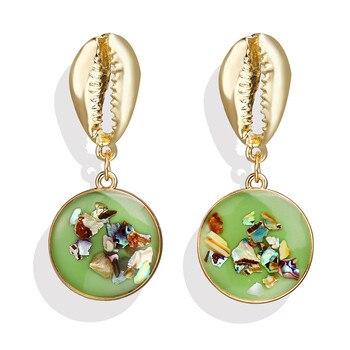 Geometric Shell Earrings For Women Earrings Jewelry Women Jewelry Metal Color: CS1907050960