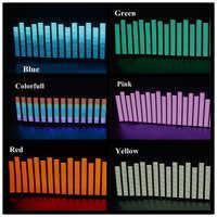 OKEEN nowy 45*11cm Led arkusz elektroluminescencyjny oświetlenie do zastosowań muzycznych lampa dźwięk korektor dekoracji stylizacja czerwony kolorowy Flash naklejki samochodowe muzyka rytm
